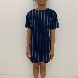 Striped Baseball T-shirt Dress
